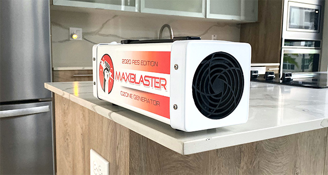 remove kitchen odor with maxblaster ozone generator