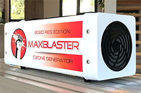 maxblaster ozone generator for odor removal in homes and vehicles april 2020