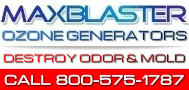 home of maxblaster ozone generators for odor removal