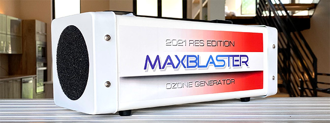 maxblaster ozone generators for odor and mold removal in homes and vehicles